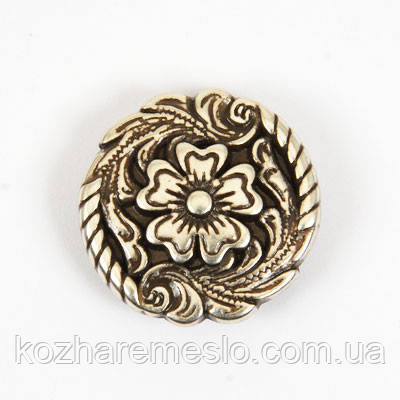 Кончо (декор на винте) 24 мм цветок
