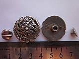 Кончо (декор на винте) 24 мм цветок, фото 2