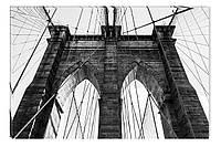 Светящиеся картина Startonight Мост Черно Белые Город Печать на Холсте Декор стен Дизайн дома Интерьер