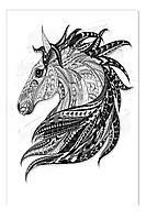 Светящиеся картина Startonight Лошадь Абстракция Черно Белые Печать на Холсте Декор стен Дизайн дома Интерьер