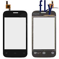 Touchscreen (сенсорный экран) для Fly IQ239+, черный, оригинал