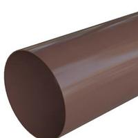 Труба водосточная ПВХ 3м Альта Коричневая, фото 1