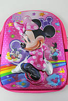 Детский  рюкзачок  плюшевый , Минни , с 6 D ( двигаются глаза )