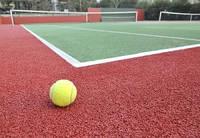 Полиуретановое покрытие для теннисного корта.