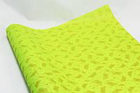 """Бумага для упаковки подарков """"бабочки золотые светло-зеленый"""""""
