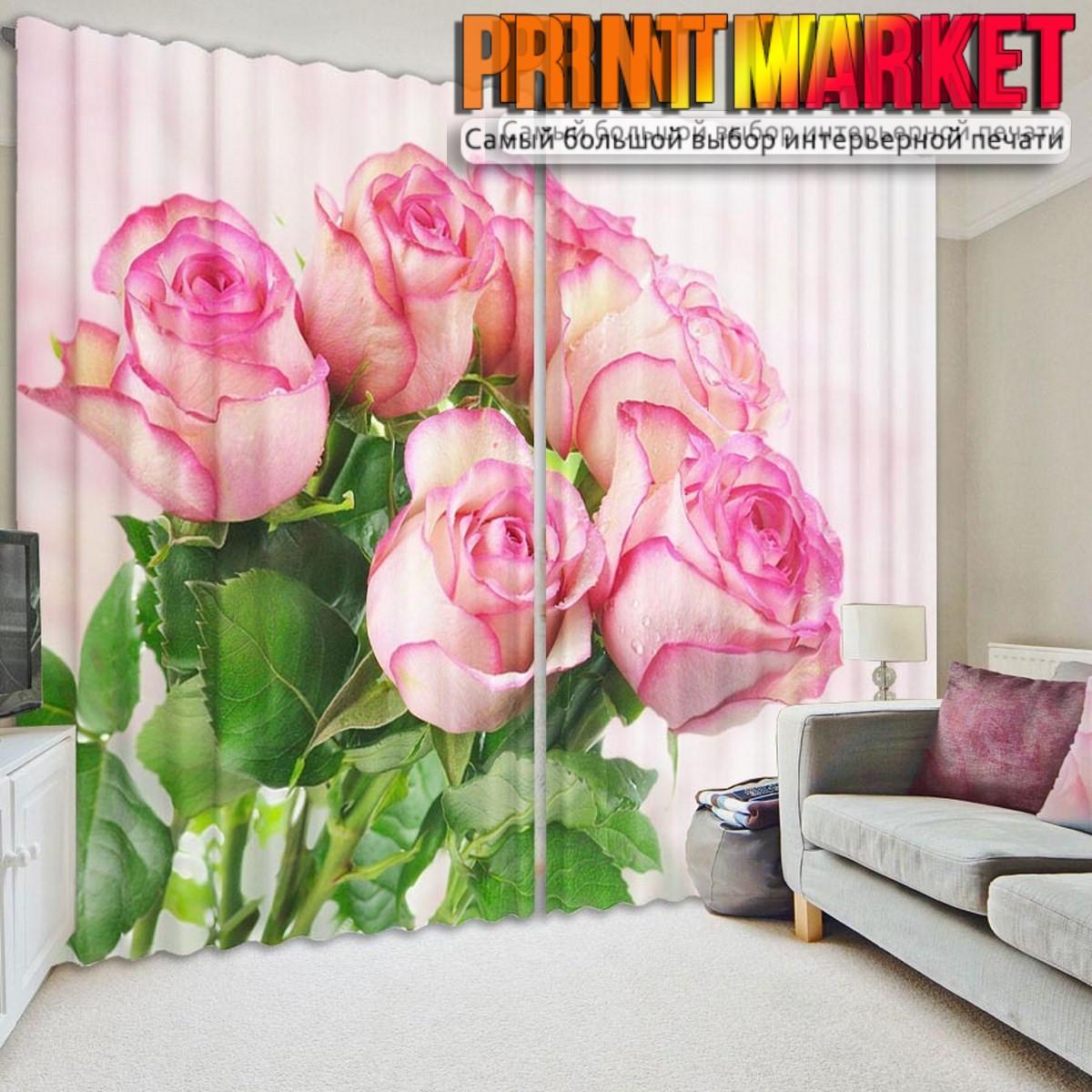 Фото шторы букет роз