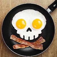 Форма для яичницы в форме черепа! Оригинальный завтрак настоящего пирата!, фото 1