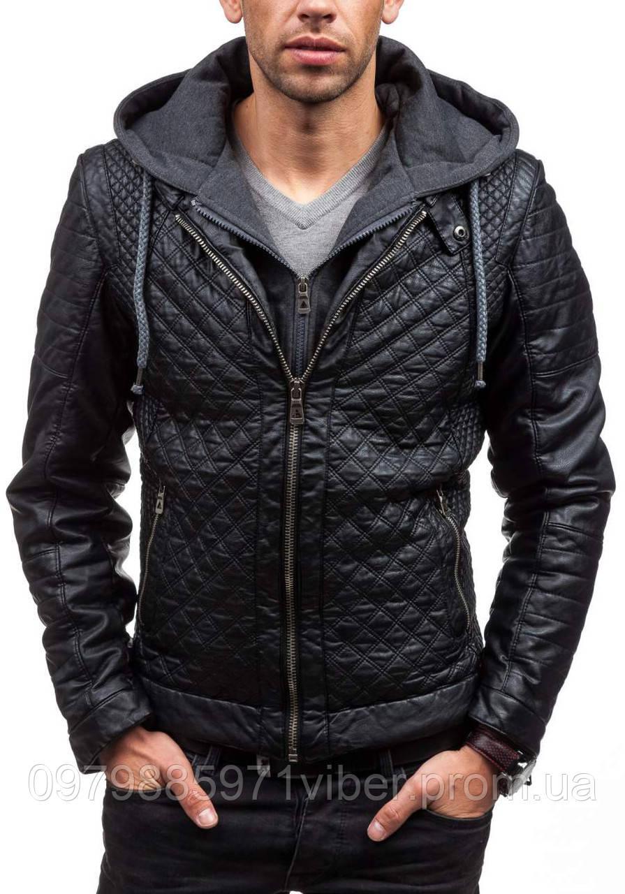 b50c17503b10 Мужская стеганая кожаная куртка , цена 1 717 грн., купить в Львове ...