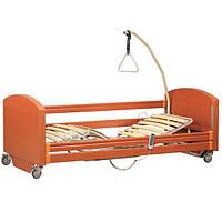 Кровать медицинская с электроприводом OSD Sofia Economy, 4-х секционная, на колесах, дерево