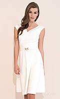 Женское летнее платье молочного цвета с клешеной юбкой. Модель Pari Zaps, коллекция весна-лето 2017.