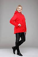 Куртка женская демисезонная большие размеры,М-354 красная