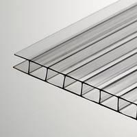 Прозрачный сотовый поликарбонат 4мм SOTON-STANDART 2.1*6м