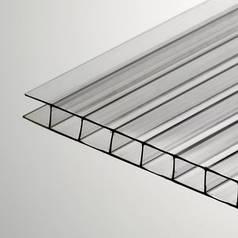 Прозрачный сотовый поликарбонат 4мм SOTON-PREMIUM Н, 2.1*6м