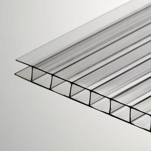 Прозрачный сотовый поликарбонат 6мм SOTON-PREMIUM Н, 2.1*12м