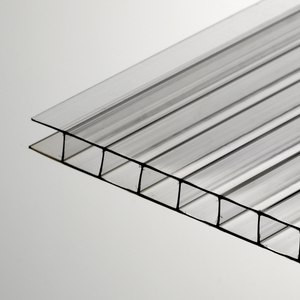 Прозрачный сотовый поликарбонат 20мм SOTON-PREMIUM V, м кв