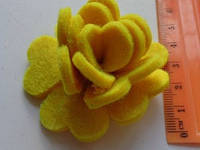 Высечка Розочка жёлтая 363