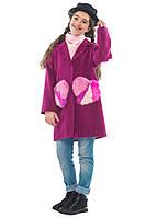 Демисезонное пальто для девочки 134-146 Сердце ТМ MiLiLook