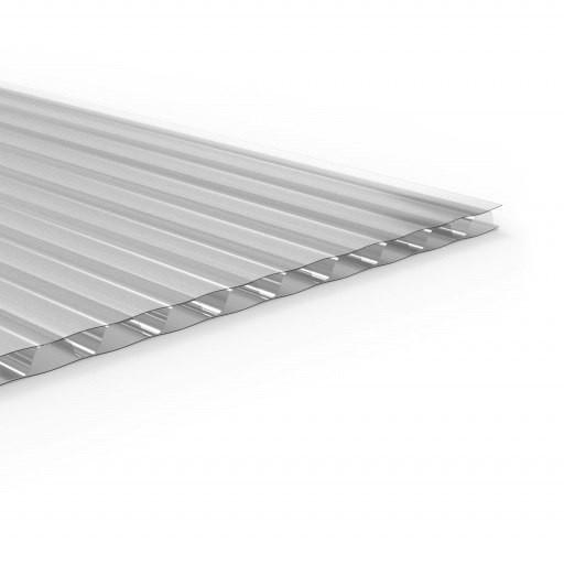 Серебрянный (металлик) сотовый поликарбонат 20мм SOTON-PREMIUM V, 2.1*6м
