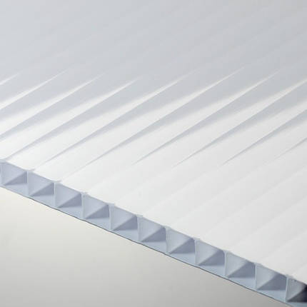 Молочный(опал) сотовый поликарбонат 6мм SOTON-STANDART 2.1*12м , фото 2