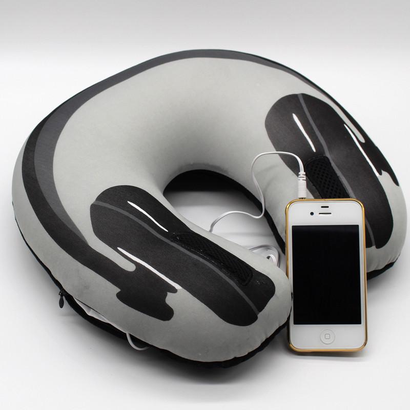 Подушка под шею с динамиками для прослушивания музыки в постели!