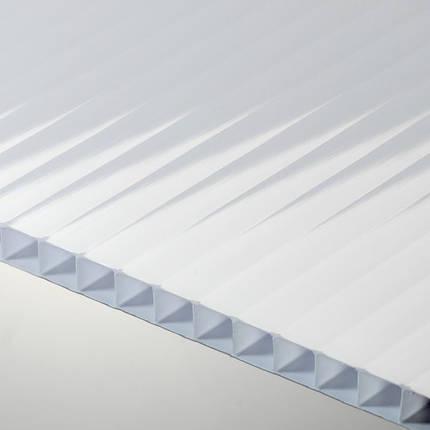 Молочный(опал) сотовый поликарбонат 20мм SOTON-PREMIUM V, 2.1*12м , фото 2
