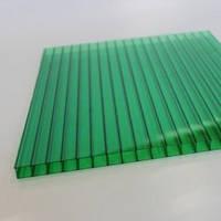 Зеленый  сотовый поликарбонат10мм SOTON-STANDART 2.1*6м