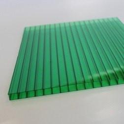 Зеленый  сотовый поликарбонат 20мм SOTON-PREMIUM V, 2.1*6м