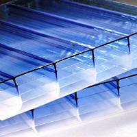 Синий  сотовый поликарбонат 8мм SOTON-PREMIUM H,м кв