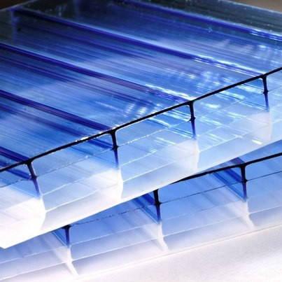 Синий  сотовый поликарбонат16мм SOTON-PREMIUM X, м кв , фото 2