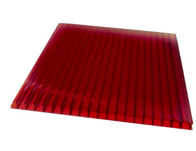 ГРАНАТ сотовый поликарбонат 8мм SOTON-PREMIUM X, 2.1*6м