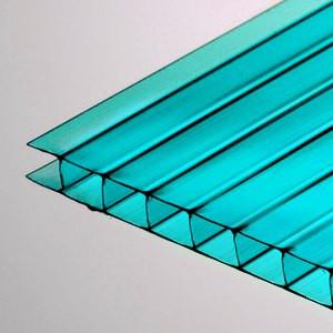 Голубой  сотовый поликарбонат 4мм VIZOR 2.1*6м