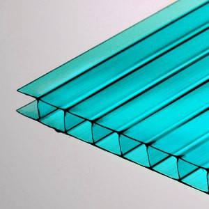 Голубой  сотовый поликарбонат 4мм VIZOR 2.1*6м , фото 2