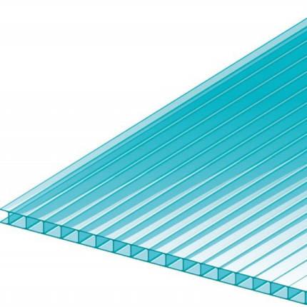 Голубой сотовый поликарбонат 6мм  VIZOR 2.1*12м , фото 2
