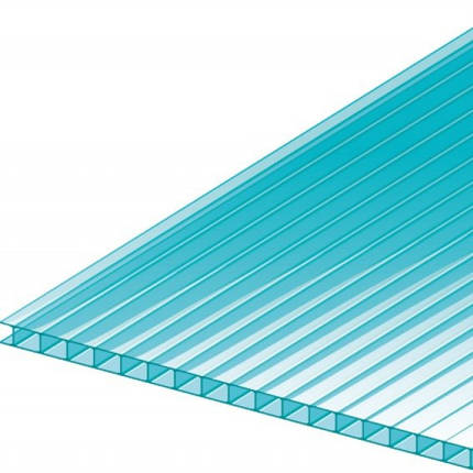 Голубой сотовый поликарбонат 6мм  VIZOR  м кв , фото 2