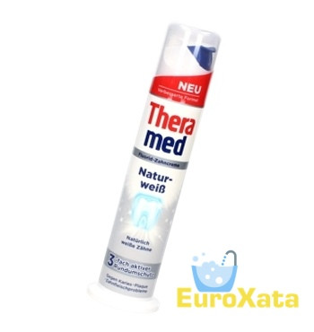 Зубная паста с дозатором Theramed Natur Weiss .