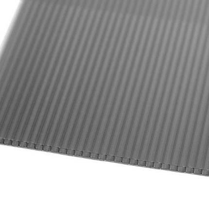 Серый  сотовый поликарбонат 6мм  VIZOR  2.1*6м , фото 2