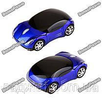 Радио мышка - машинка Беспроводная USB-блютус синего цвета., фото 2