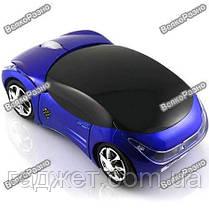 Радио мышка - машинка Беспроводная USB-блютус синего цвета., фото 3