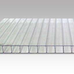 Прозрачный сотовый поликарбонат 6мм SOTON-ЭКОНОМ 2.1*12м , фото 2