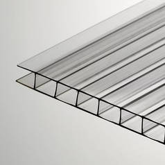 Прозрачный сотовый поликарбонат 6мм SOTON -ЭКОНОМ 2.1*6м