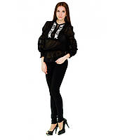Вишита блуза. Сорочка вишита жіноча. Стильна блузка. Сучасна вишиванка.