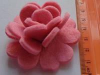 Высечка Розочка розовая 364