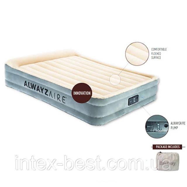 Двуспальная надувная кровать Bestway 67566 (203-152-43 см) с встроенным электронасосом (203-152-43 см)