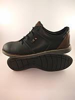Ecco туфли комфорт 43 Размер из натуральной кожи черный с коричневым Т3