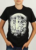 Стильная подростковая футболка с волками