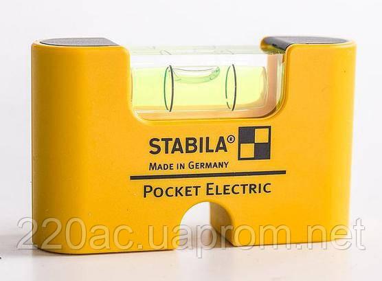 Уровень магнитный 7см STABILA Pocket Electric 17775