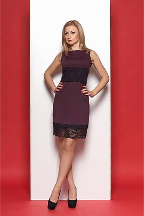 9771612d8fc Женское стильное молодежное платье 970 цвет сливовый размер 44-50
