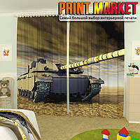Фотошторы для детской танк