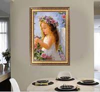 Девочка-ангелочек 5Д (частичная выкладка) 24*33 см