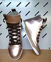 Ботинки-кеды женские из натуральной кожи Uk0413